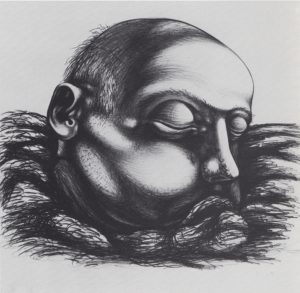 untitled, pencil on paper, 15x16, 1935