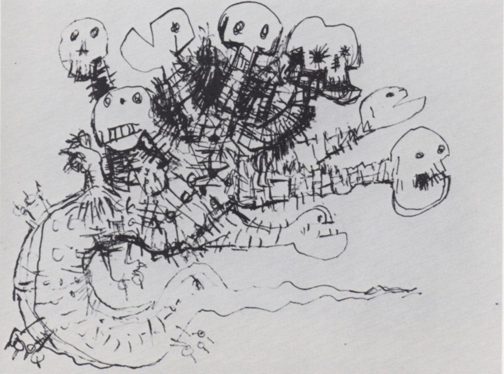 untitled V, Vietnam Series, ink on paper, 9 x 12, 1968