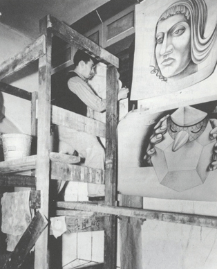 kadish_working_on_mural_1936