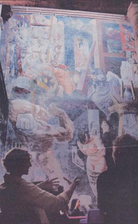 """El Mural """"La Inquisición"""" fu realizado a mediados de los treintas"""