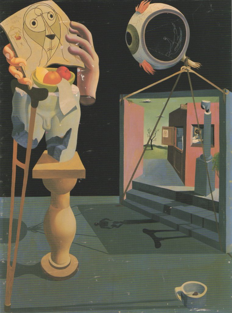 Reuben Kadish, Untitled (Dr. Entozoak), oil and mixed media on canvas, 48x36, 1935
