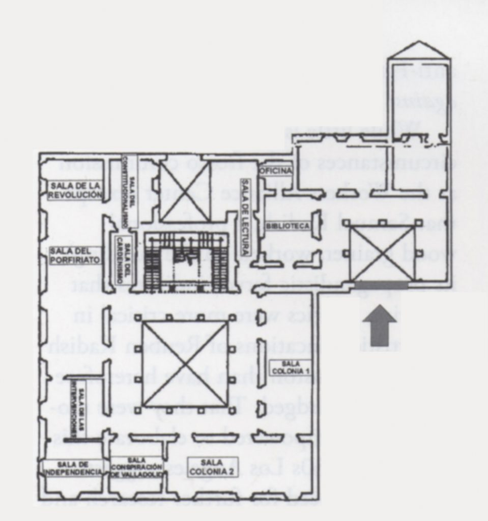 (fig. 14) Plan of Museo Regional Michoacan, second level