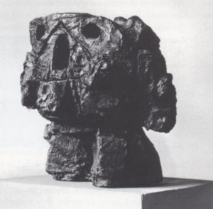 Fig. 4, Reuben Kadish (American, 1913-1992) Head, 1966, Bronze, 16 x 16 x 14 inches, Photograph courtesy of the Reuben Kadish Art Foundation
