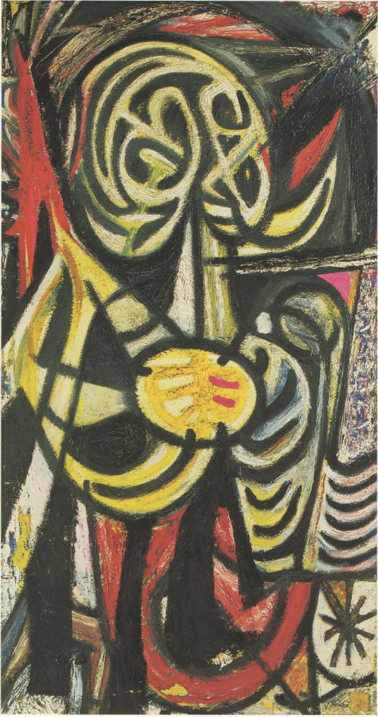 untitled, oil on canvas, 40x21, c. 1945