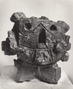 Head, terra cotta, 16x16x14, 1962