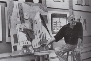 (fig 3.) Philip Guston with The Studio, 1969. Photo, Frank Lloyd / David McKee Gallery, New York