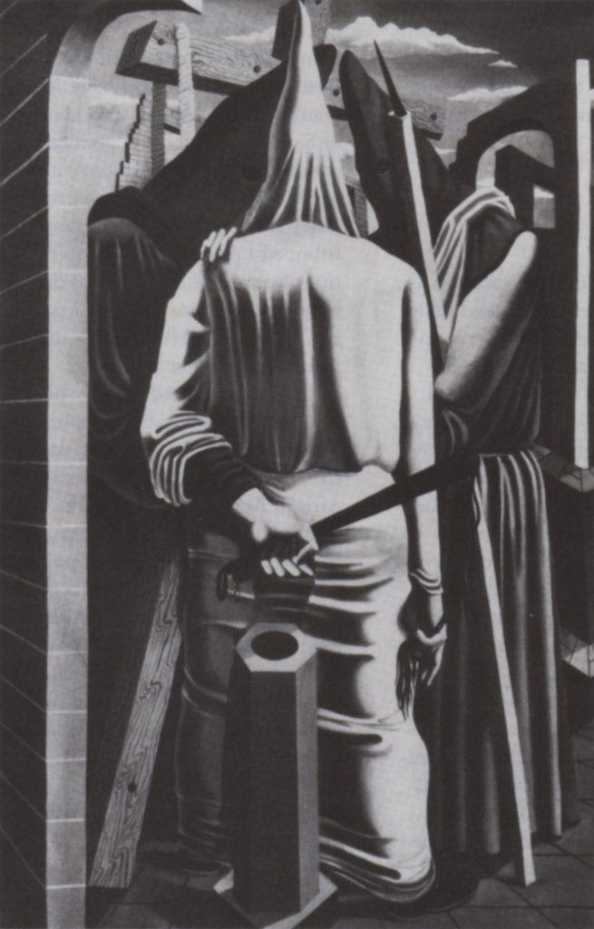 (fig. 9) Philip Guston, Conspirators, ca. 1930-32. Oil, 50 x 36 in. Unlo-cared © Estate of Philip Guston. Photo, David McKee Gallery, New York