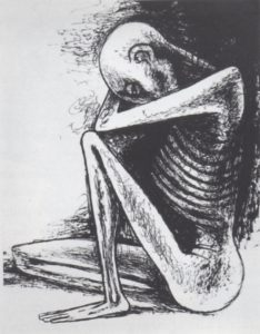Fig. 2, Reuben Kadish (American, 1913-1992) Destitute, n.d. Life Collection of Art from WWII, #434 Photograph courtesy of the Reuben Kadish Art Foundation