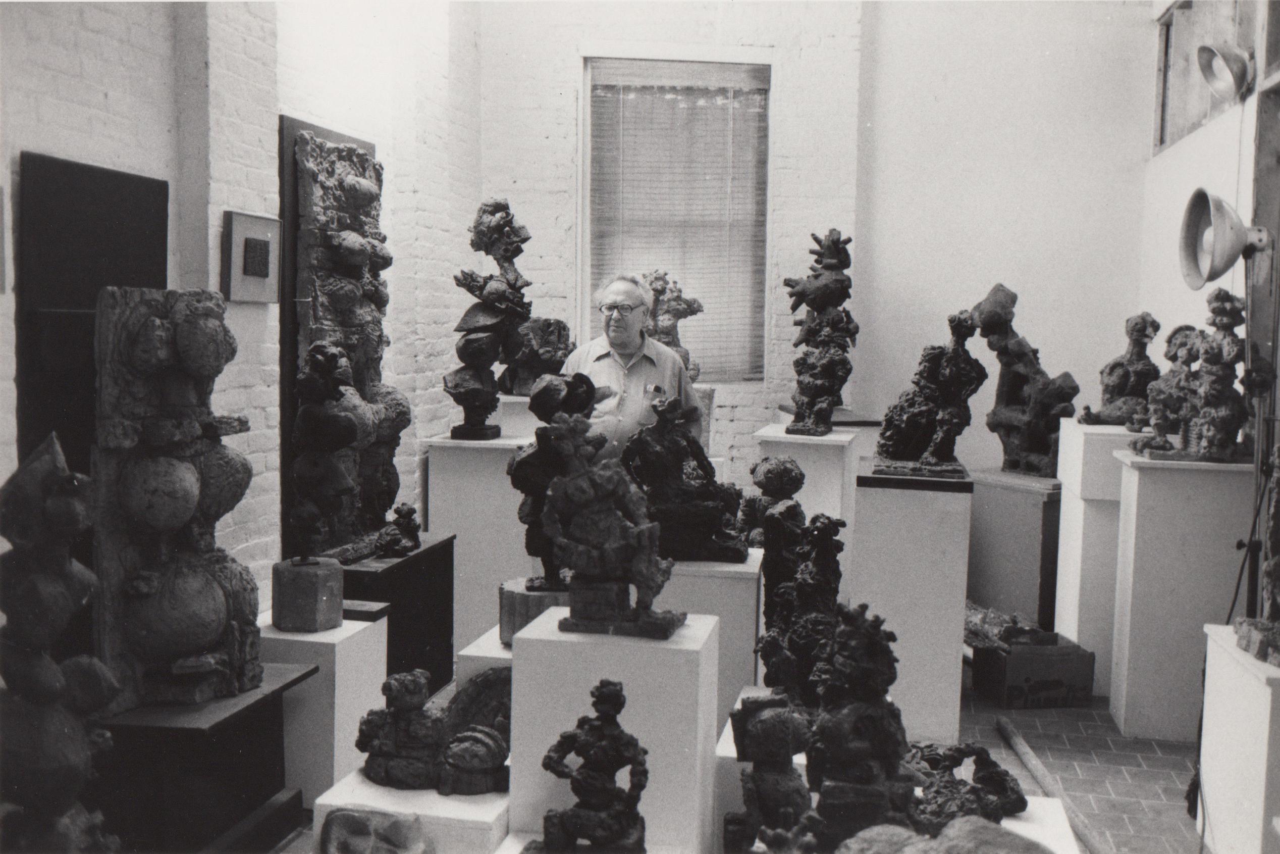 Reuben Kadish in his 9th street studio. photo: Sarah Wells