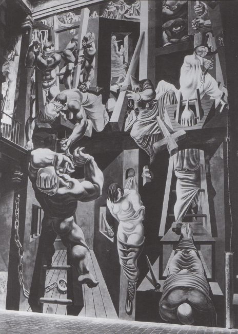 Reuben Kadish The Struggle Against Terrorism, Fresco on wall, 40 feet high, 1934,
