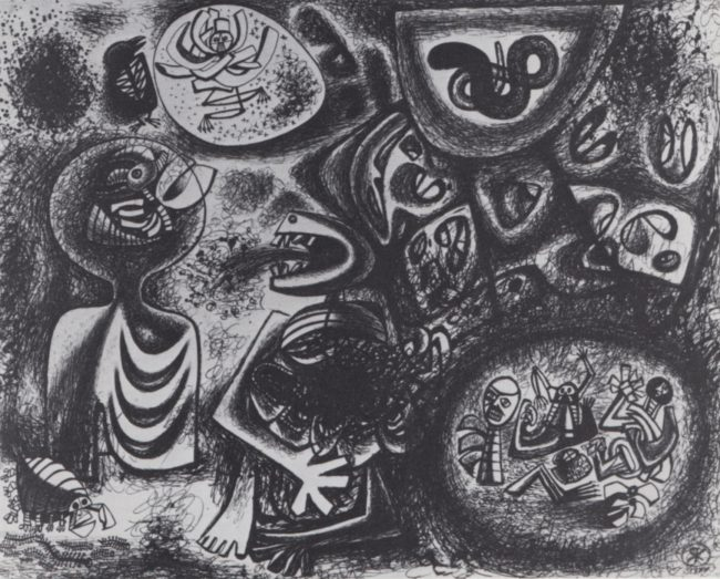 Reuben Kadish Cycle of Sorrow, ink on paper, 22 x 29 inches, 1944,