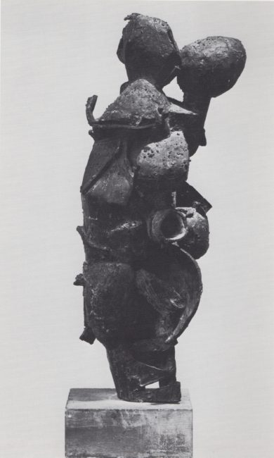 Reuben Kadish Duo II, bronze, 34 x 12 x 8 inches, 1959,