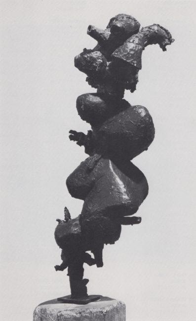 Reuben Kadish Moloch I, bronze, 28 x 8 x 11 inches, 1959,