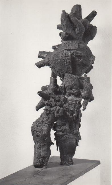 Reuben Kadish Walking Man, bronze, 36 x 14 x 12 inches, 1959,