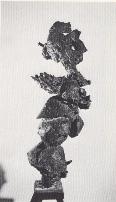Reuben Kadish Moloch III (Queen of Darkness), bronze, 41 x 12 x 14 inches, 1960,