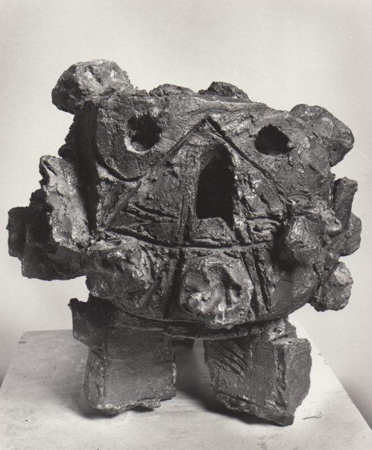 Reuben Kadish Head, terra-cotta, 16 x 16 x 14 inches, 1962,