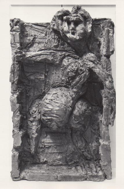 Reuben Kadish Startled Woman, terra-cotta, 34 x 21 x 8 inches, 1967,
