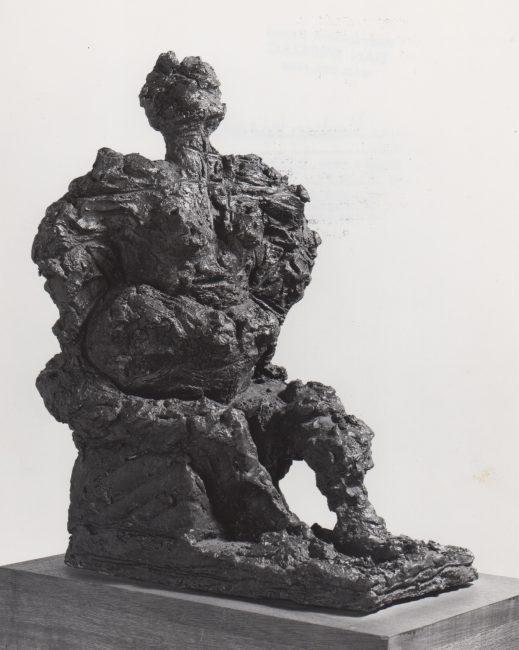 Reuben Kadish Seated Figure, bronze, unknown, 1970,