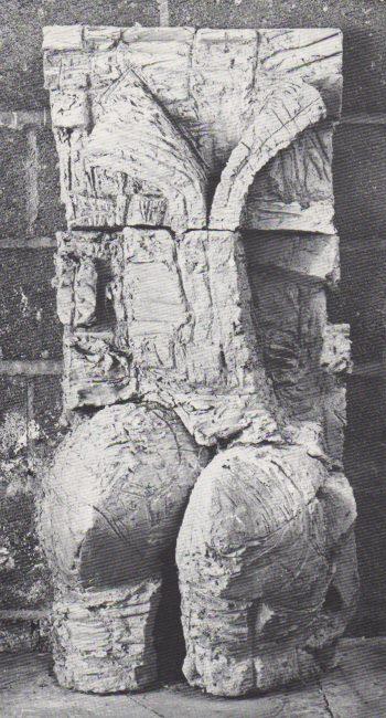 Reuben Kadish Split, terra-cotta, 41 x 19 x 16 inches, 1970,