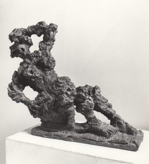 Reuben Kadish Hilda, bronze, 20 x 52 x 12 inches, 1972,