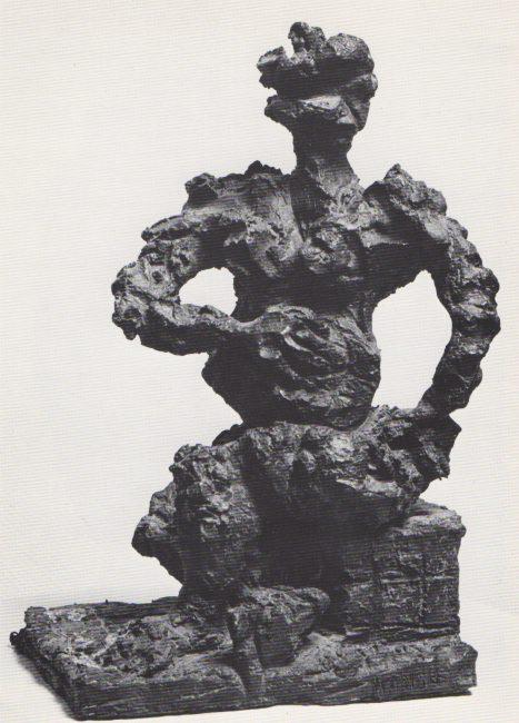 Reuben Kadish Cybele I, bronze, 16 x 8 x 9 inches, 1972,