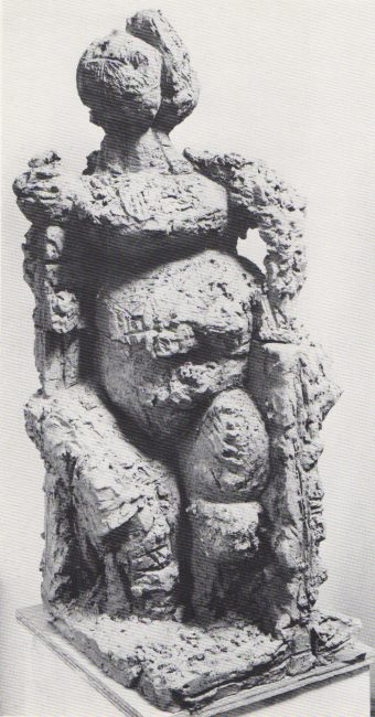 Reuben Kadish Gerlina, terra-cotta, 41 x 16 x 18 inches, 1975,