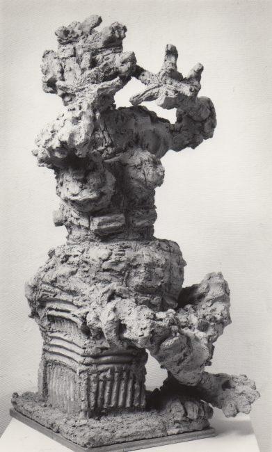 Reuben Kadish Jocasta III, terra-cotta, 27 x 14 x 14 inches, 1976,