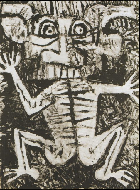 Reuben Kadish untitled, monotype on paper, 29 x 22 inches, 1984-85 c.,