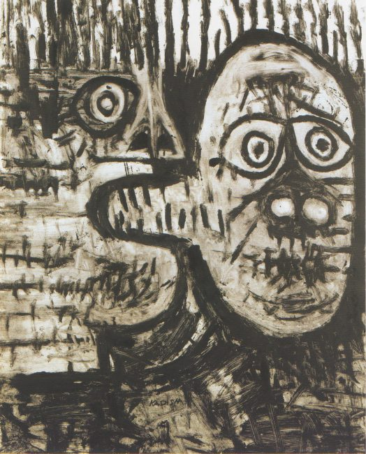 Reuben Kadish untitled, monotype on paper, 30 x 22 inches, 1984-85 c.,