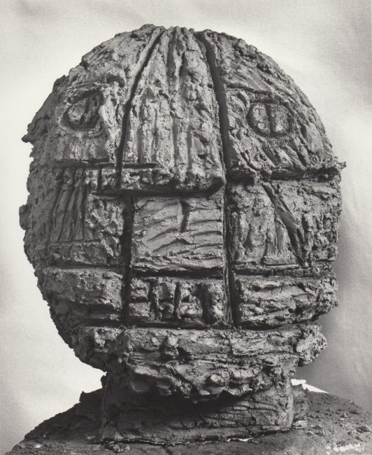Reuben Kadish Head, terra-cotta, 18 x 15 x 15 inches, 1985,