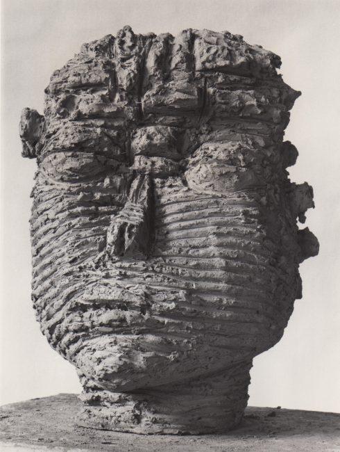 Reuben Kadish Head, terra-cotta, 19 x 13 x 14 inches, 1985,