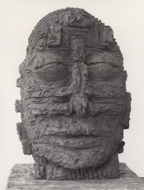 Reuben Kadish Head, terra-cotta, 21 x 13 x 15 inches, 1985,