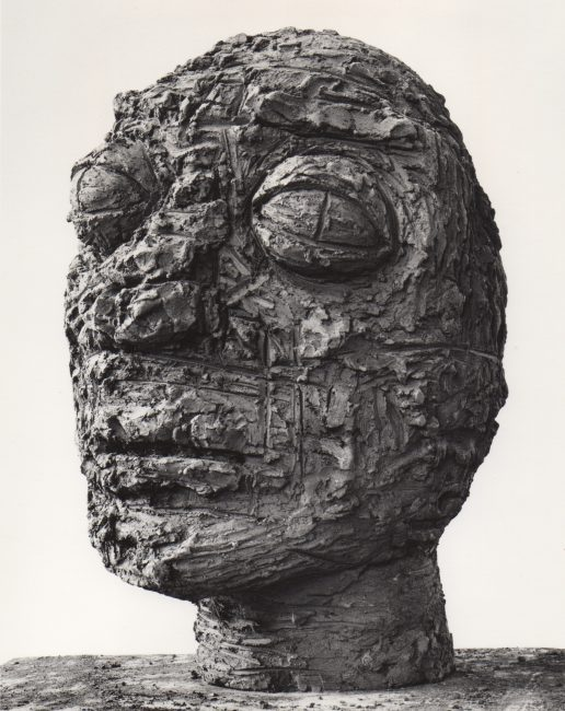 Reuben Kadish Head, terra-cotta, 23 x 14 x 16 inches, 1985,