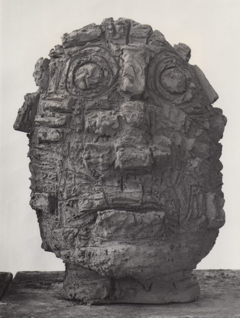 Reuben Kadish Head, terra-cotta, 23 x 17 x 18 inches, 1985,