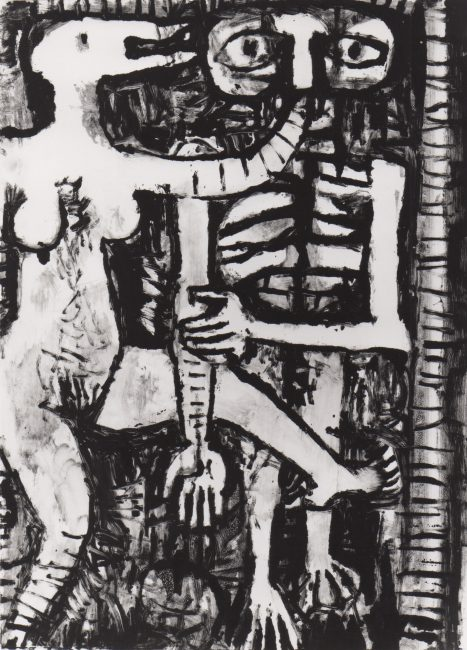 Reuben Kadish untitled, monotype on paper, 29 x 22 inches, 1985,