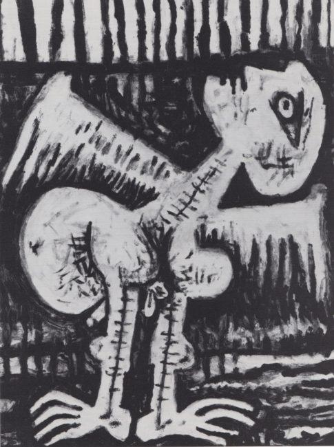 Reuben Kadish Star Gazer, monotype on paper, 29 x 22 inches, 1986,