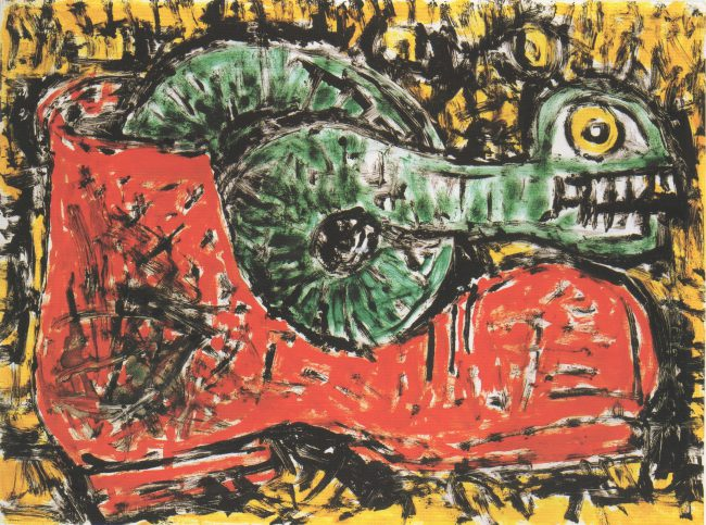 Reuben Kadish untitled (To Vincent), color monotype on paper, 22 x 30 inches, 1987,