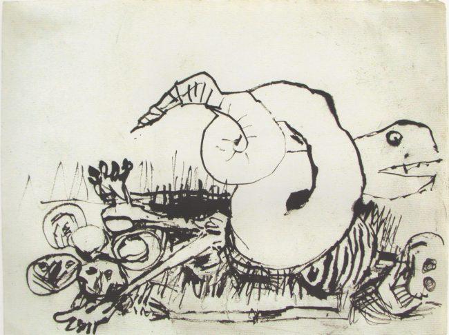 Reuben Kadish untitled, ink on paper, 9 x 12 inches, 1989,