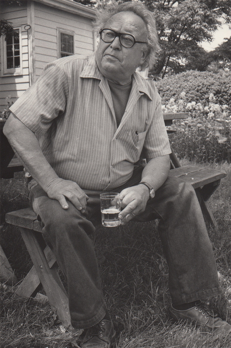 1985, Reuben Kadish at his New Jersey Farm