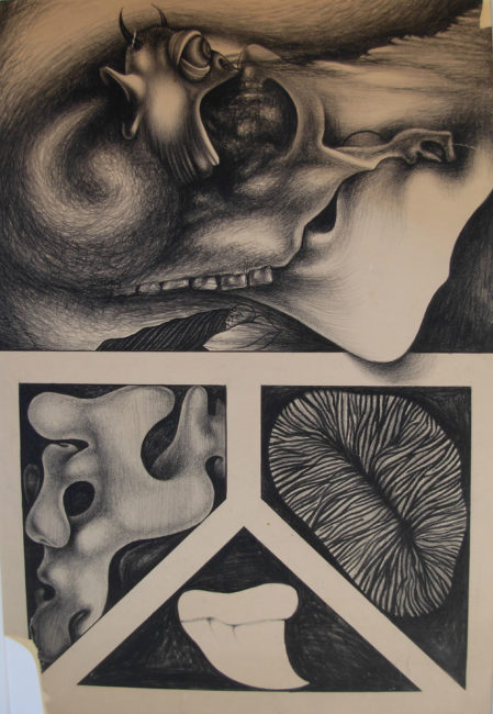 Reuben Kadish Untitled (Demonic Reverie), lithograph, 31 x 23 inches (78 x 58 cm), 1938,