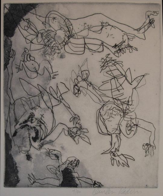 Reuben Kadish Untitled (Five Figures), etching, 22 x 20 inches (56 x 51 cm), 1969,
