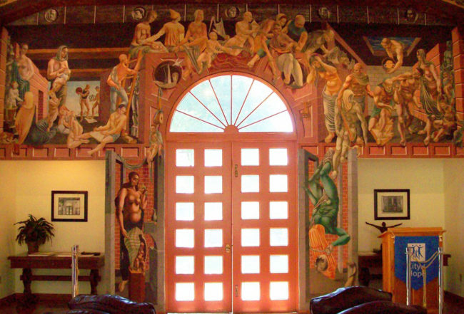 Reuben Kadish History of Medicine, Fresco, 163 square feet, 1936, City of Hope, Duarte, California